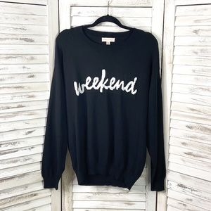 VICI | The Weekend Black and White Knit Sweater M